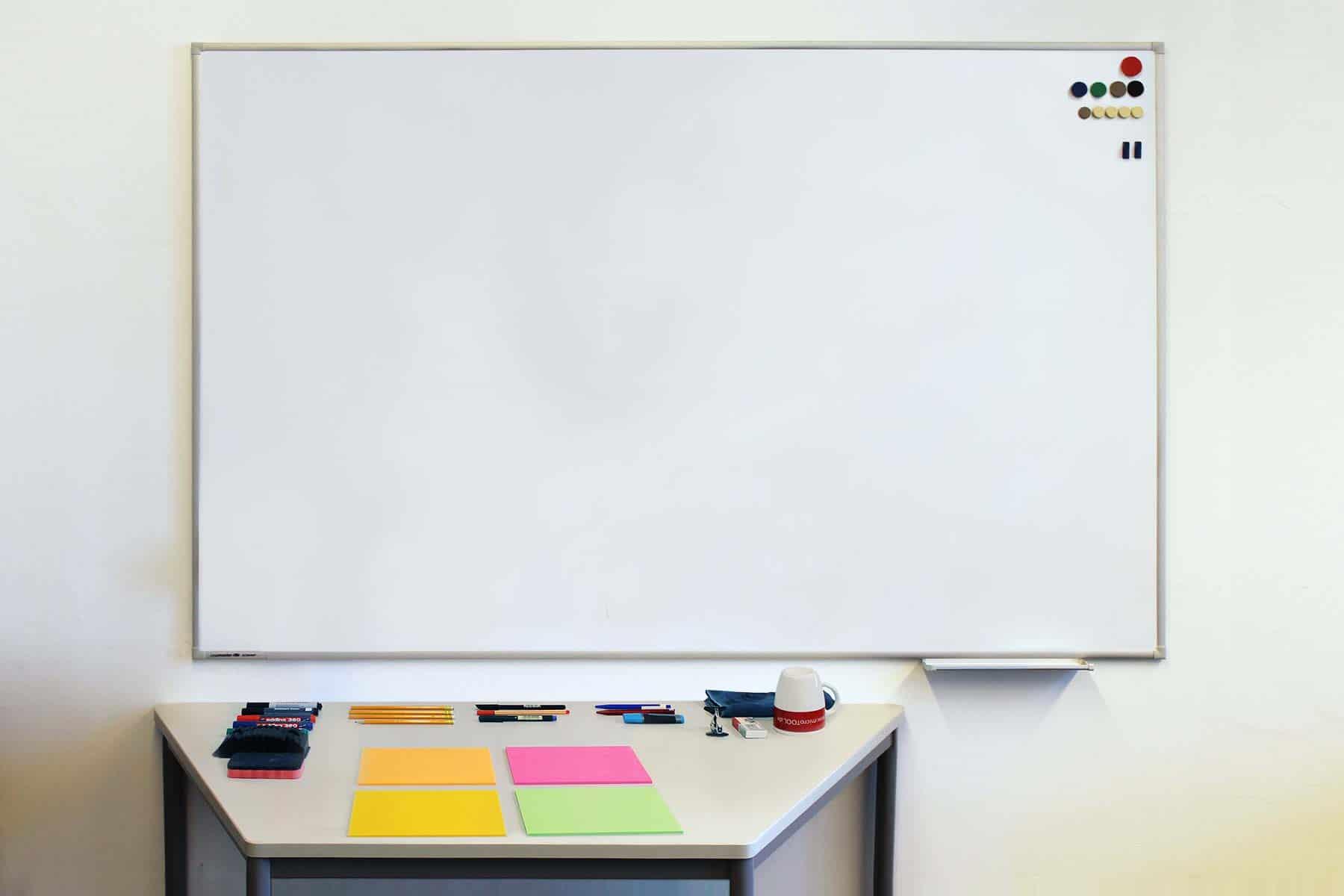 Whiteboard aufgeräumt