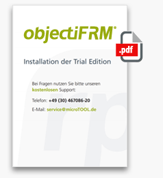 objectiF RM Installationsguide der Trial Edition - Download