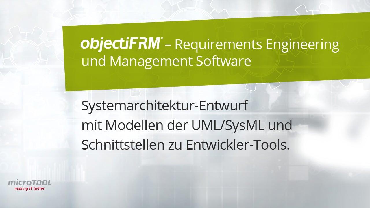 Systemarchitektur Entwurf - Unterstützung durch objectiF RM