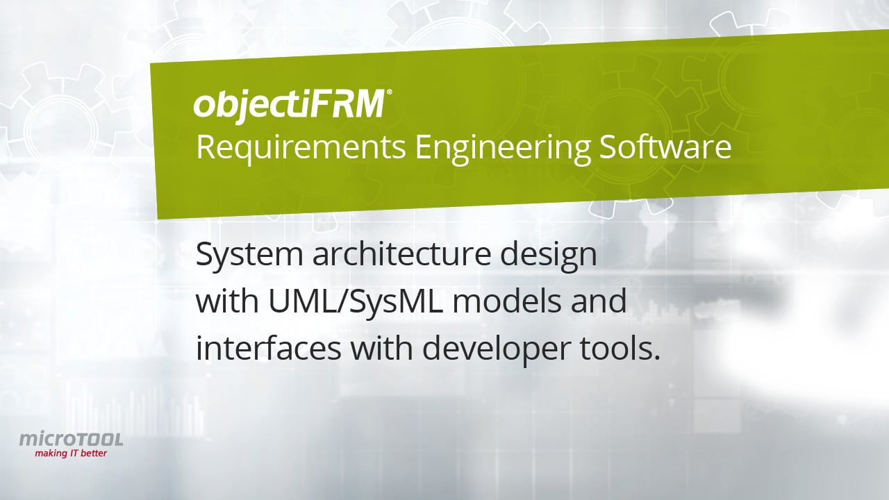 System architecture design with objectiF RM