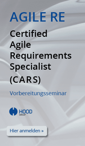 Certified Agile Requirements Specialist - CARS - Anmeldung zum Seminar