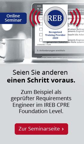 IREB CPRE Foundation Level Online – zur Seminarseite