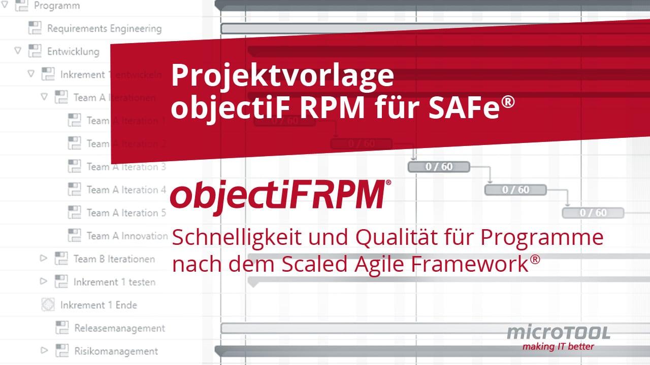 Projektvorlage: objectiF RPM für SAFe®