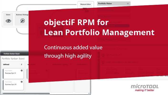 objectiF RPM for Lean Portfolio Management