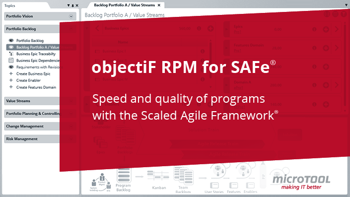 Project Template: objectiF RPM for SAFe®