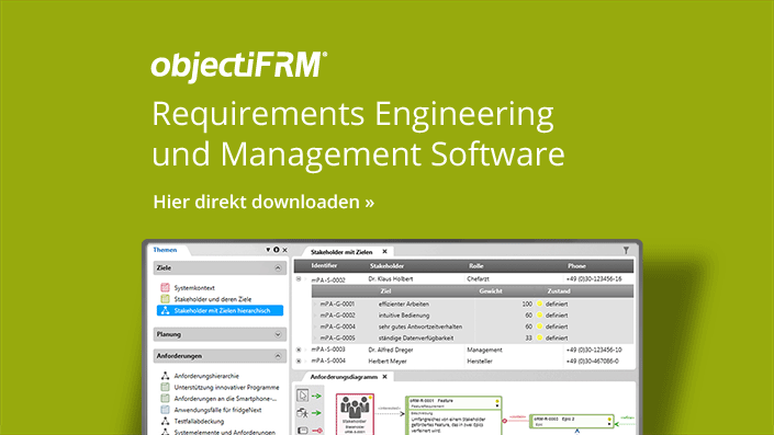 objectiF RM - Requirements Engineering und Management Software