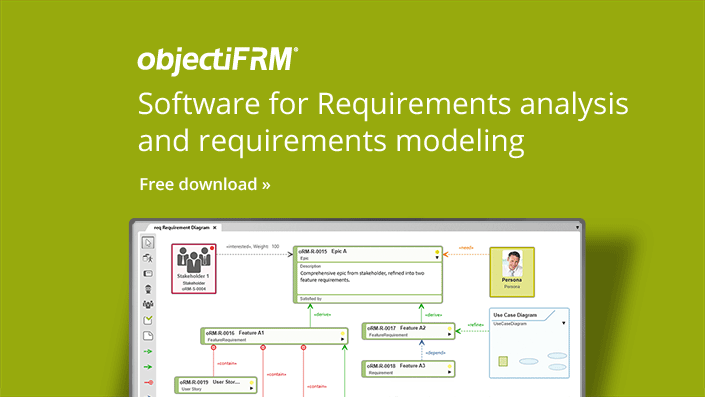 objectiF RM - Software for requirements analysis and requirements modeling