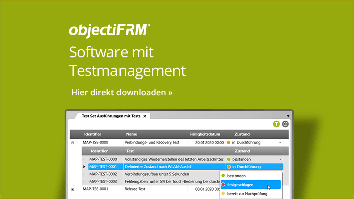 objectiF RM - Software mit Testmanagement