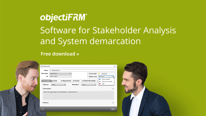 objectiF RM - Stakeholderanalysis and System demarcation Software