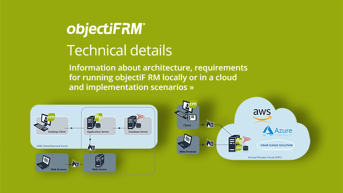 objectiF RM - Software for requirements engineering - technical details