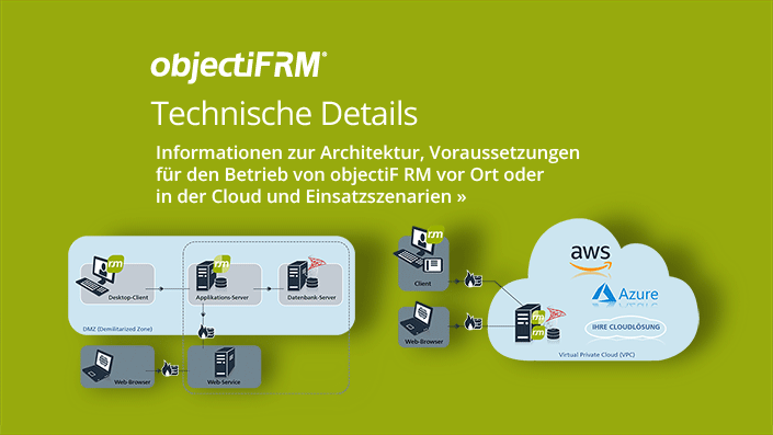 objectiF RM - Software für Requirements Engineering - technische Details