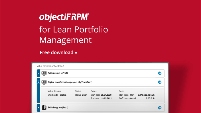 objectiF RPM - Software for Lean Portfolio Management