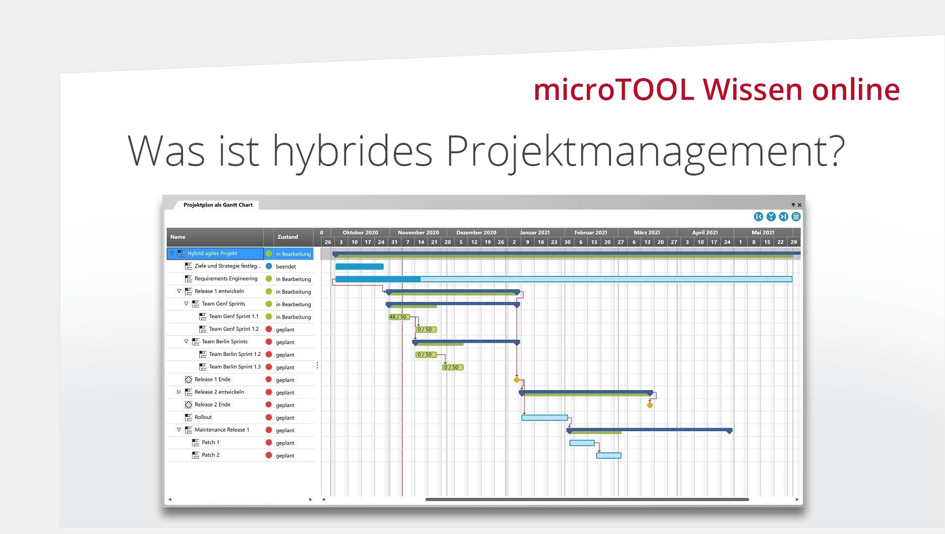 Wissen online: Was ist hybrides Projektmanagement?