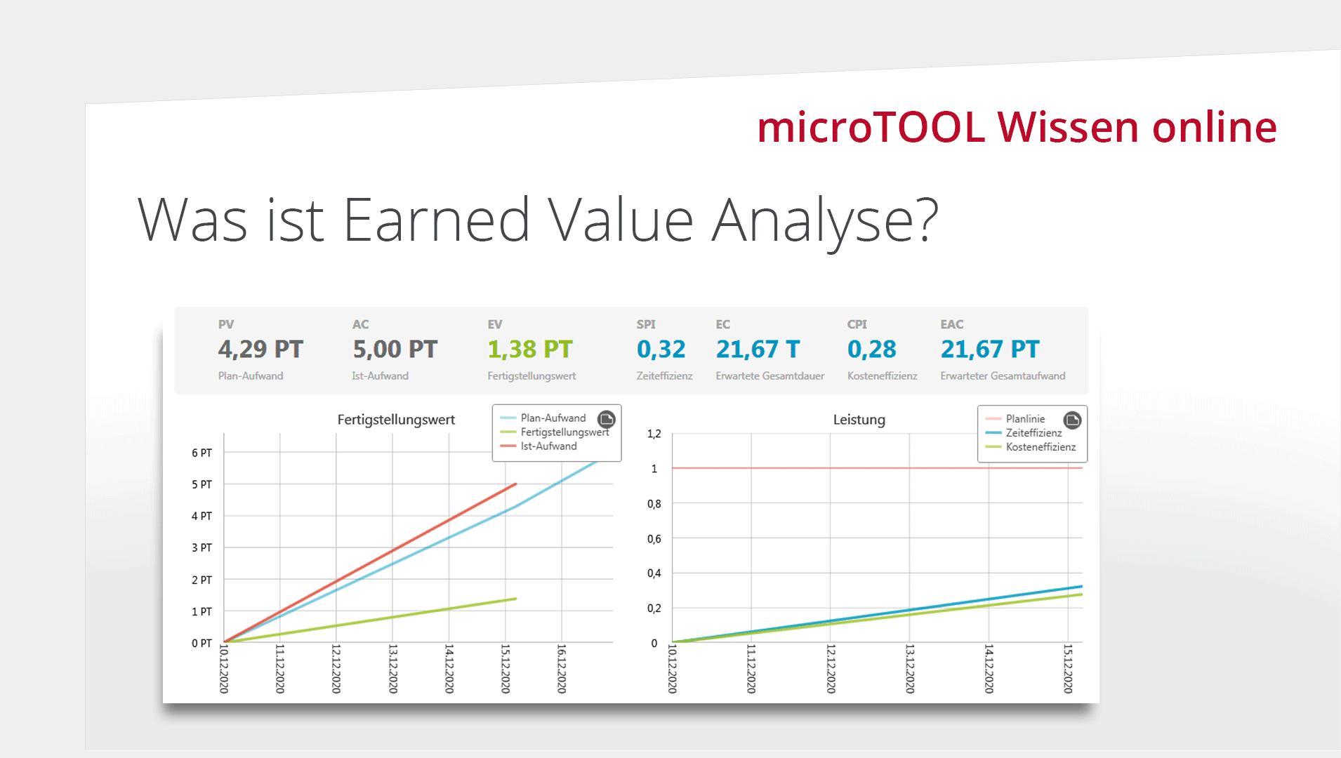 Wissen Online: Was ist die Earned Value Analyse?