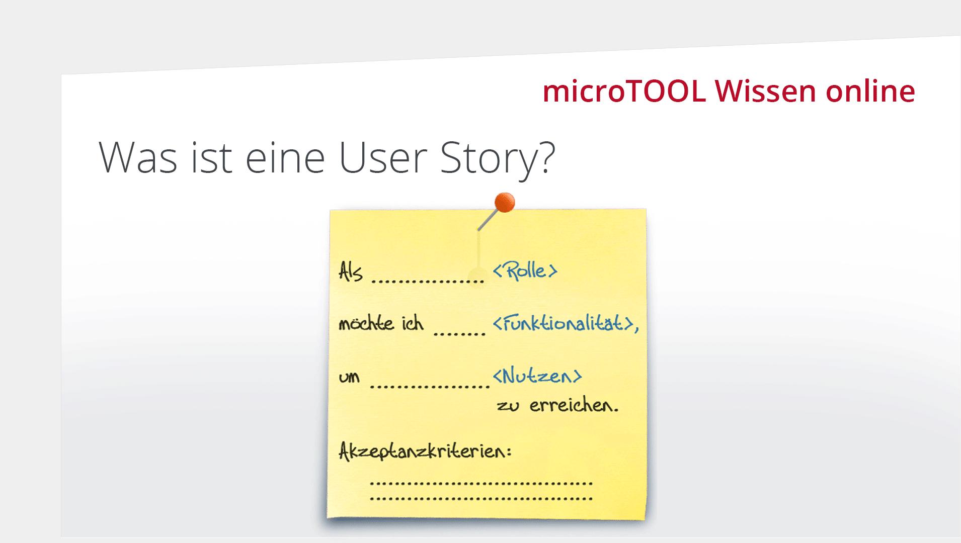 Was ist eine User Story?