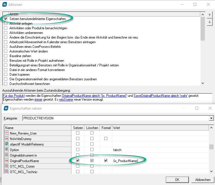 Eigenschaften in in-STEP BLUE per RegEx ändern