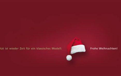 Weihnachtskarte mit Mütze