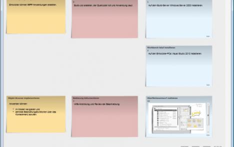 Task Board mit zugeordnetem Bild bei einer Task