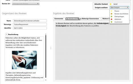 Dialog zum Eingeben eines Review-Kommentars in objectiF RPM